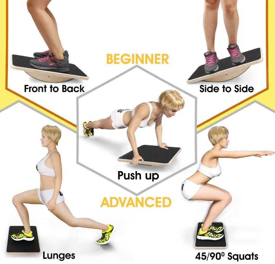 fitness ploča za ravnotežu