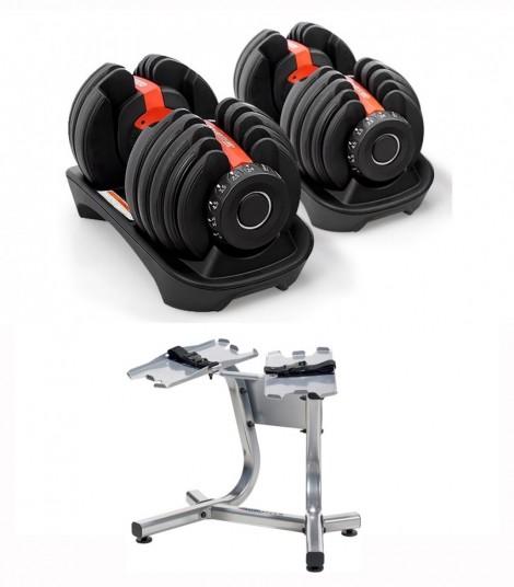 fitnes uteži s stojalom