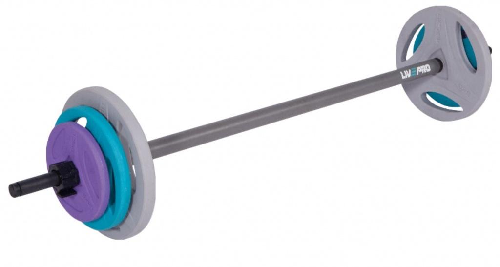 palica in uteži za pump
