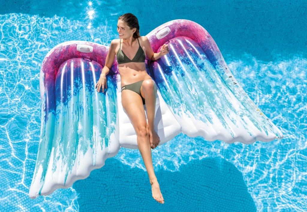 napihljiva blazina morje oblika kril