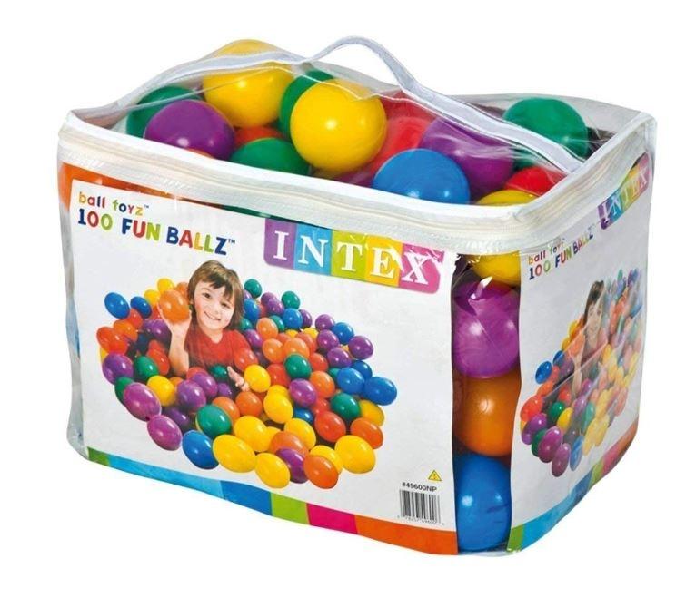 100 plastičnih žogic