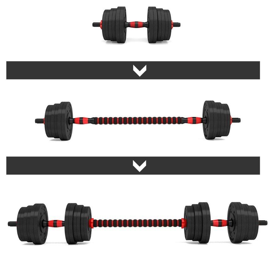 3 različne kombinacije uteži