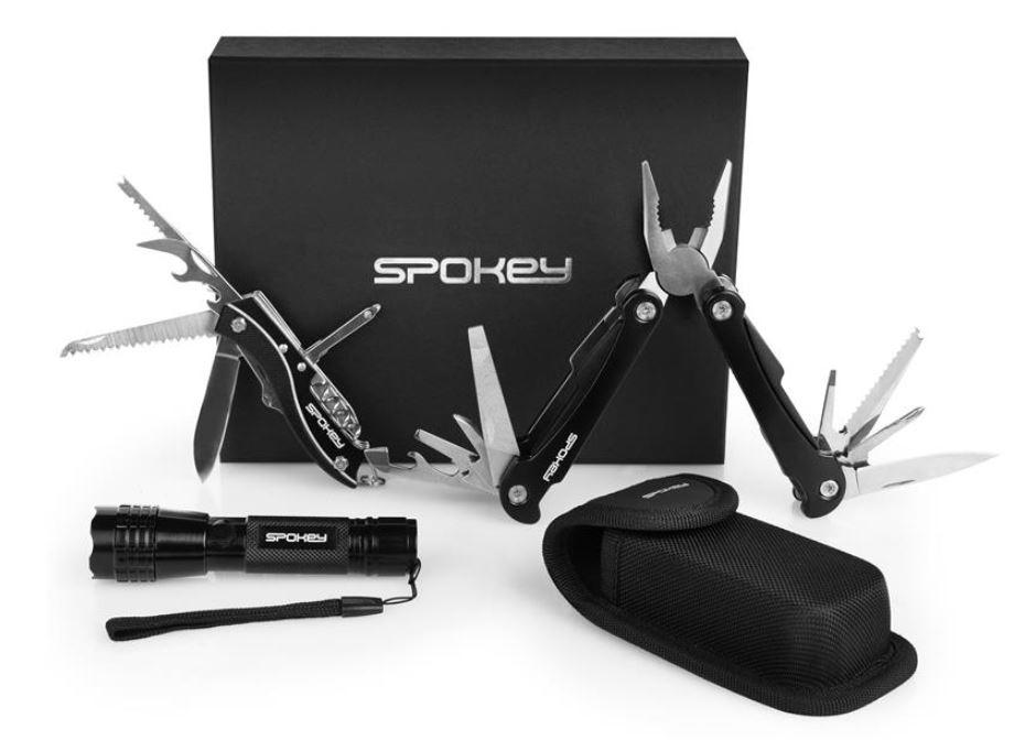 set nožev in orodij ter svetilke