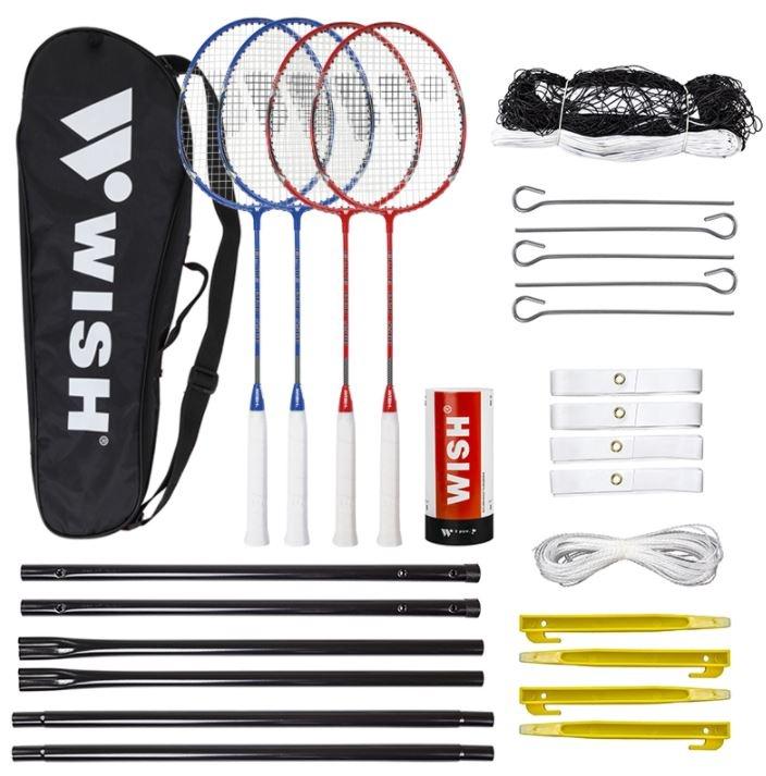 komplet z mrežo za badminton