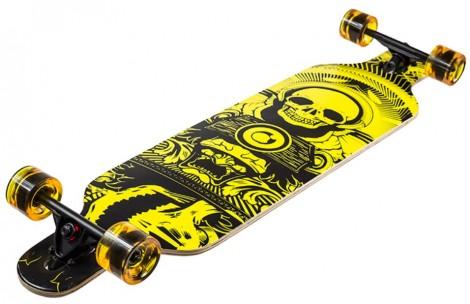 drop thru longboard 104 × 24 cm