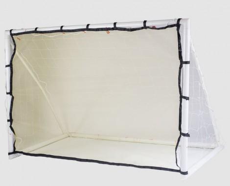 Porta da calcio con rete da allenamento e rimbalzo