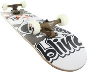 black/white skateboard blind