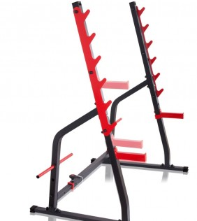 squat rack in acciaio semi professionale