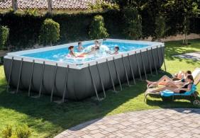 piscina Frame rettangolare intex combo