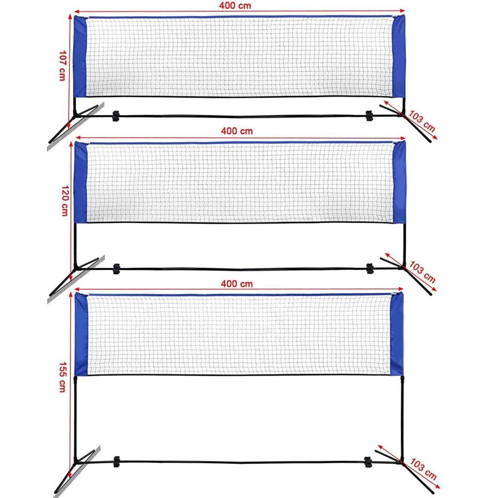 badminton rete 3 altezze di regolazione
