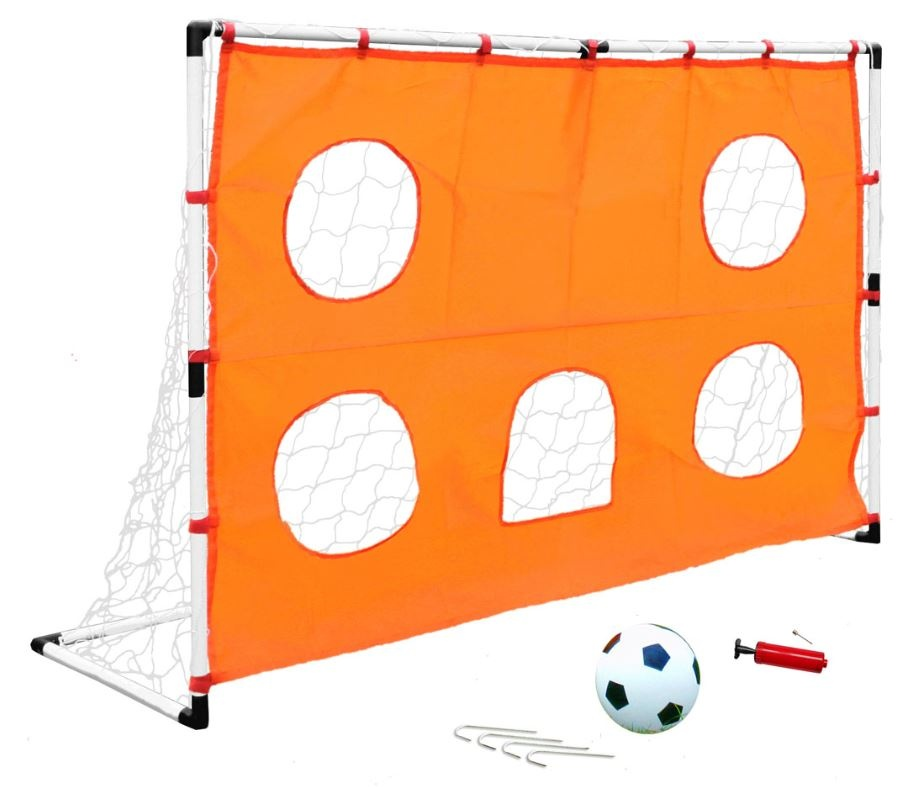 porta calcio con rete da allenamento