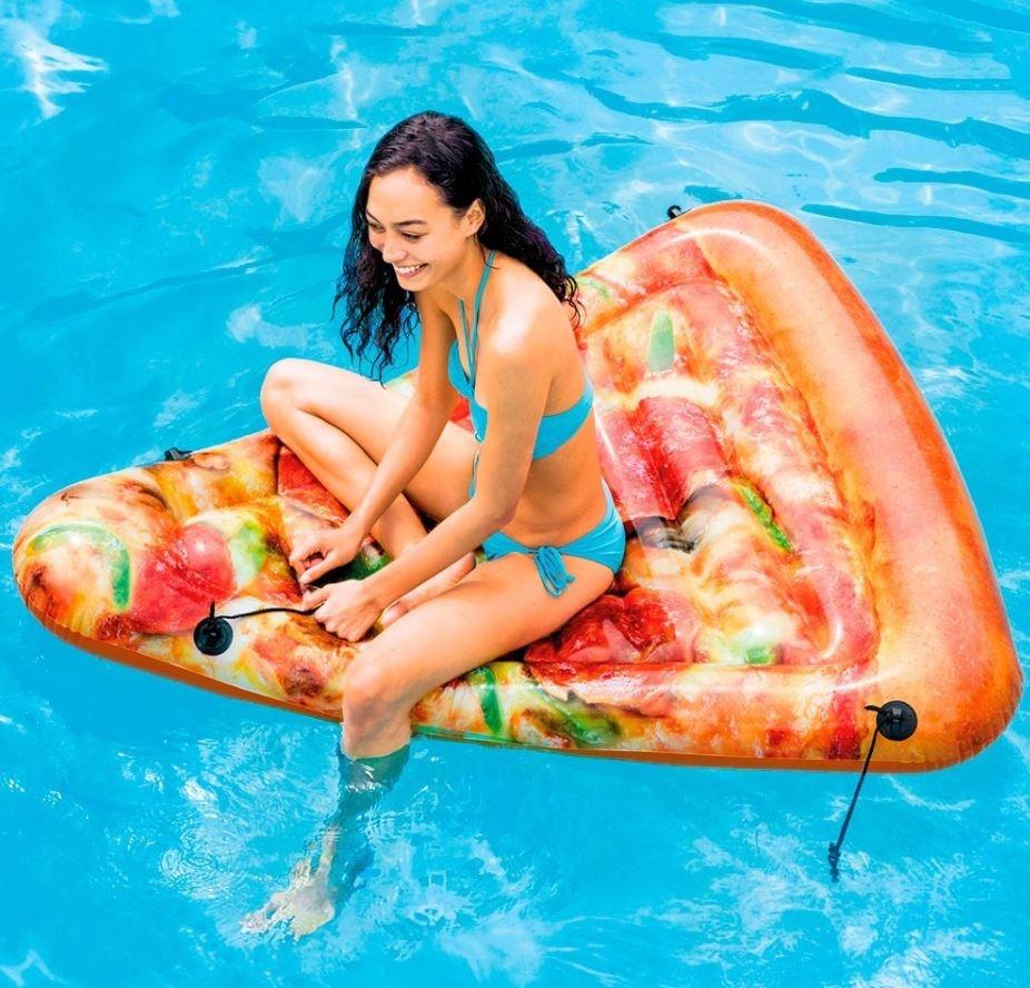 pizza gonfiabile intex materasso mare