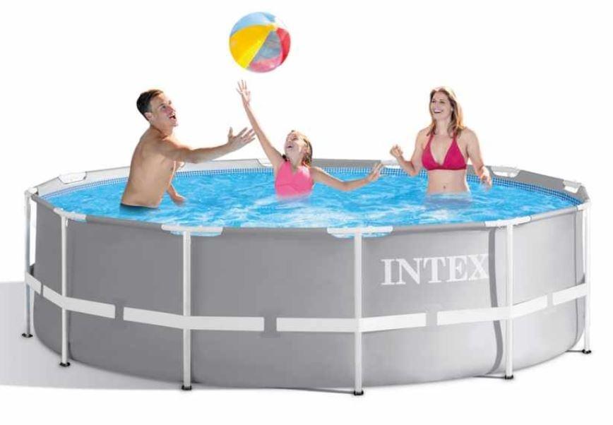 intex piscina rotonda prism frame 366