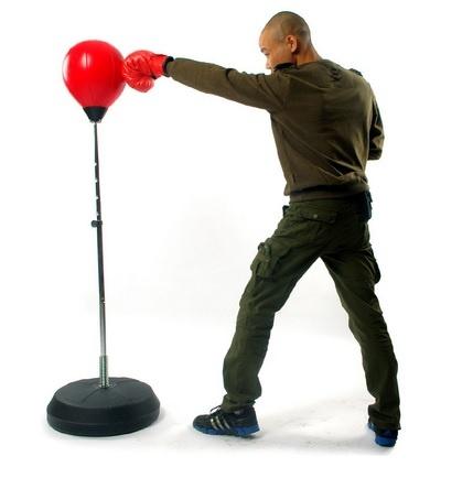 punching ball sacco da terra con altezza regolabil